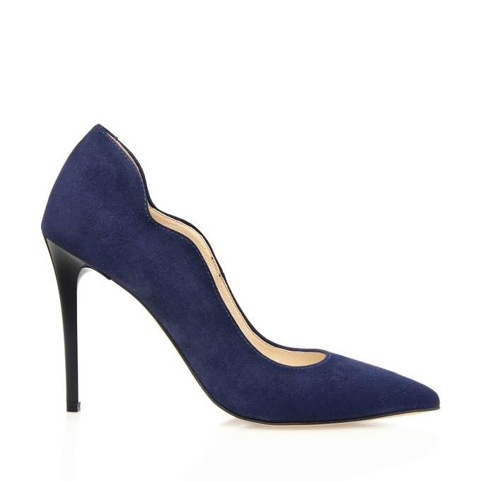e34c03b2fe1 Navy blue wavy stilettos