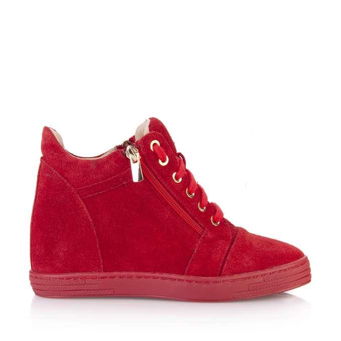 f8a48f5acdee5e sneakersy, sneakersy czerwone, sneakersy czerwone zamszowe ...