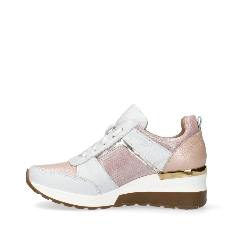 Sneakersy różowo białe