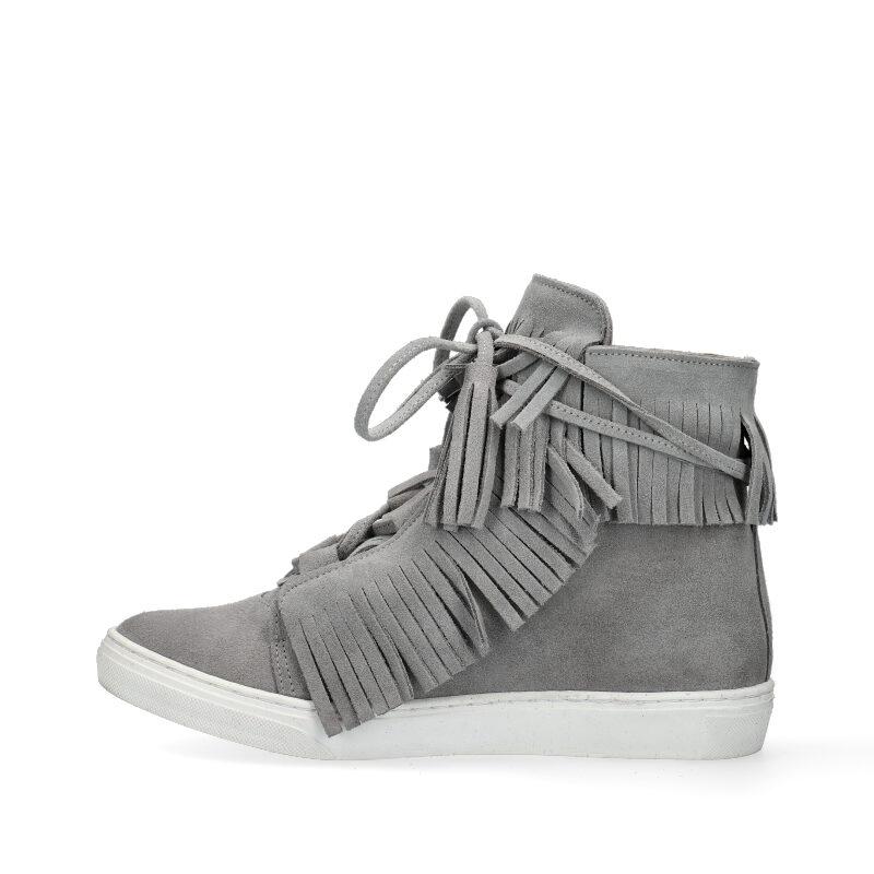 sneakersy szare z frędzlami Arturo Vicci Botki damskie szare w Arturo Vicci
